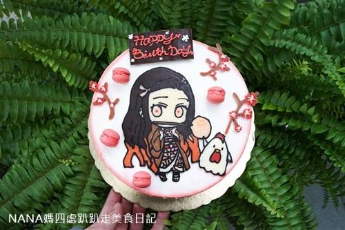 玻璃糖 彌豆子生日蛋糕